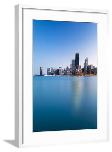 Usa, Illinois, Chicago. the City Skyline from North Avenue Beach.-Nick Ledger-Framed Art Print