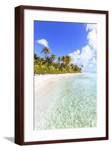 Sable Rose (Pink Sand) Beach in the Lagoon of Tikehau, French Polynesia-Matteo Colombo-Framed Art Print