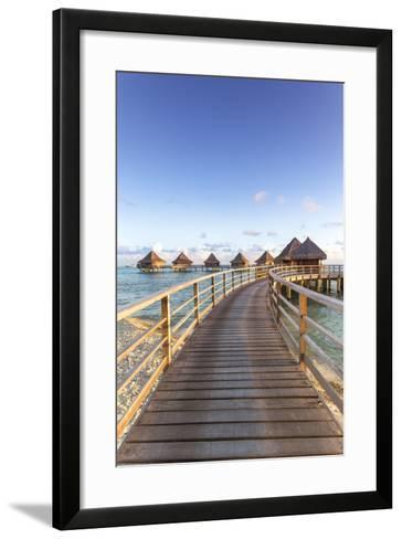 Water Bungalows of Pearl Beach Resort, Rangiroa Atoll, French Polynesia-Matteo Colombo-Framed Art Print