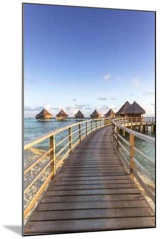 Water Bungalows of Pearl Beach Resort, Rangiroa Atoll, French Polynesia-Matteo Colombo-Mounted Photographic Print