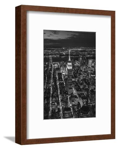 Empire State Building and Manhattan, New York City, New York, USA-Jon Arnold-Framed Art Print