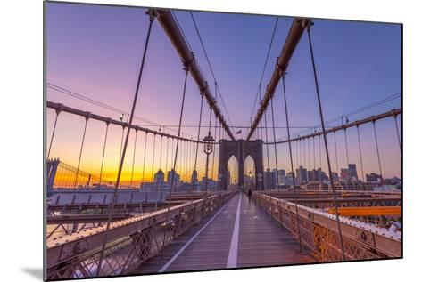 Usa, New York, Brooklyn Bridge-Alan Copson-Mounted Photographic Print