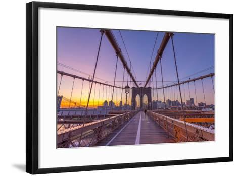 Usa, New York, Brooklyn Bridge-Alan Copson-Framed Art Print