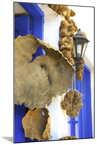 Shop Selling Sponges a Tradition of Kalymnos, Kalymnos, Dodecanese, Greek Islands, Greece, Europe-Neil Farrin-Mounted Photographic Print