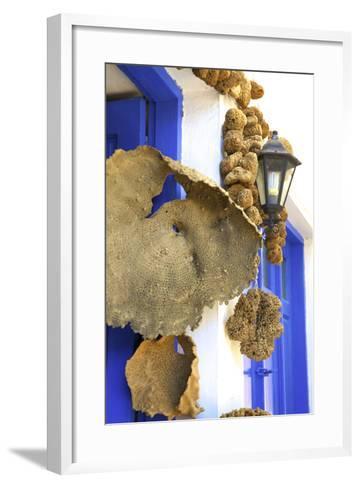 Shop Selling Sponges a Tradition of Kalymnos, Kalymnos, Dodecanese, Greek Islands, Greece, Europe-Neil Farrin-Framed Art Print