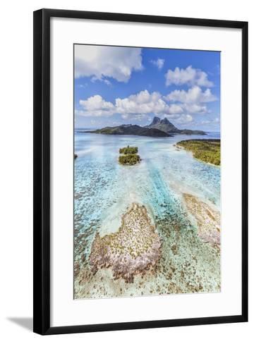 Aerial View of Bora Bora Island, French Polynesia-Matteo Colombo-Framed Art Print