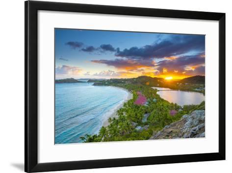 Caribbean, Antigua, Galley Bay, Galley Bay Beach, Sunrise-Alan Copson-Framed Art Print