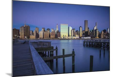 Chrysler and Un Buildings and Midtown Manhattan Skyline from Queens, New York City, New York, USA-Jon Arnold-Mounted Photographic Print