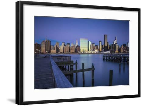Chrysler and Un Buildings and Midtown Manhattan Skyline from Queens, New York City, New York, USA-Jon Arnold-Framed Art Print