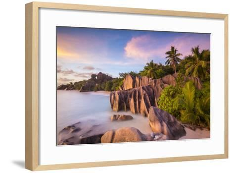 Anse Source D'Argent Beach, La Digue, Seychelles-Jon Arnold-Framed Art Print