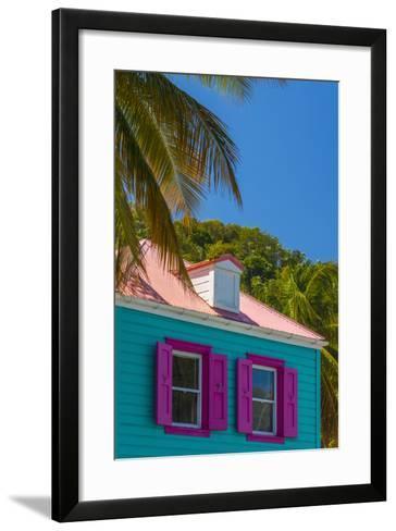 Caribbean, British Virgin Islands, Tortola, Sopers Hole, Traditional Shuttered Windows-Alan Copson-Framed Art Print