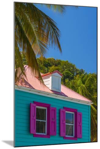 Caribbean, British Virgin Islands, Tortola, Sopers Hole, Traditional Shuttered Windows-Alan Copson-Mounted Photographic Print
