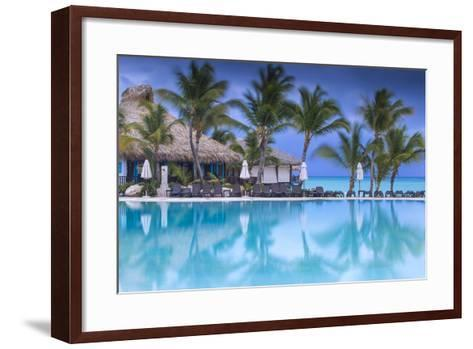 Dominican Republic, Punta Cana, Cap Cana, Swimmkng Pool at the Sanctuary Cap Cana Resort and Spa-Jane Sweeney-Framed Art Print