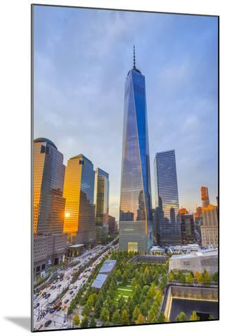 Usa, New York, Manhattan, Downtown, World Trade Center, Freedom Tower or One World Trade Center-Alan Copson-Mounted Photographic Print
