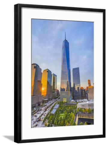 Usa, New York, Manhattan, Downtown, World Trade Center, Freedom Tower or One World Trade Center-Alan Copson-Framed Art Print
