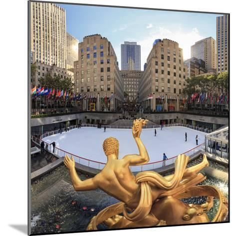 Usa, New York, New York City, Manhattan, Rockefeller Center, Ice Rink-Michele Falzone-Mounted Photographic Print