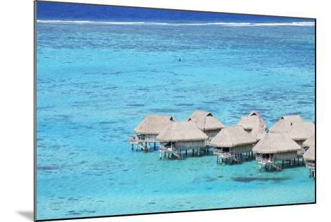 Overwater Bungalows of Sofitel Hotel, Moorea, Society Islands, French Polynesia (Pr)-Ian Trower-Mounted Photographic Print