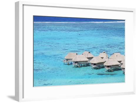 Overwater Bungalows of Sofitel Hotel, Moorea, Society Islands, French Polynesia (Pr)-Ian Trower-Framed Art Print