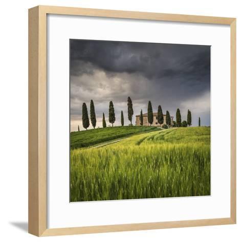 San Quirico D'Orcia, Tuscany, Italy. Farmhouse at Sunset.-ClickAlps-Framed Art Print