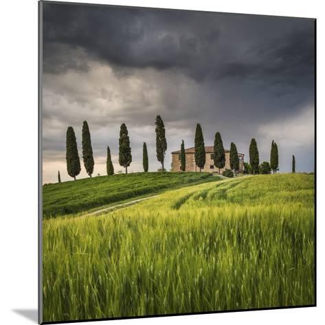 San Quirico D'Orcia, Tuscany, Italy. Farmhouse at Sunset.-ClickAlps-Mounted Photographic Print