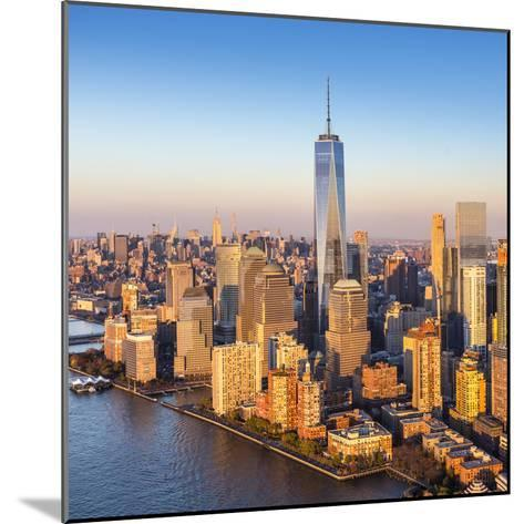 One World Trade Center and Lower Manhattan, New York City, New York, USA-Jon Arnold-Mounted Photographic Print