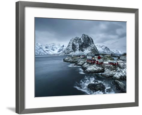 Hamnoy - Lofoten Islands, Norway Coastal Rocks and Mountains.-ClickAlps-Framed Art Print