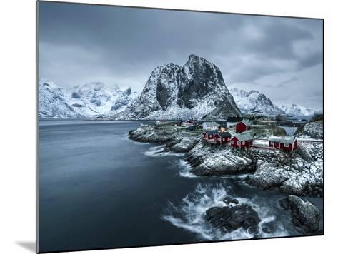 Hamnoy - Lofoten Islands, Norway Coastal Rocks and Mountains.-ClickAlps-Mounted Photographic Print