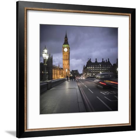 Big Ben, Houses of Parliament and Westminster Bridge, London, England-Jon Arnold-Framed Art Print