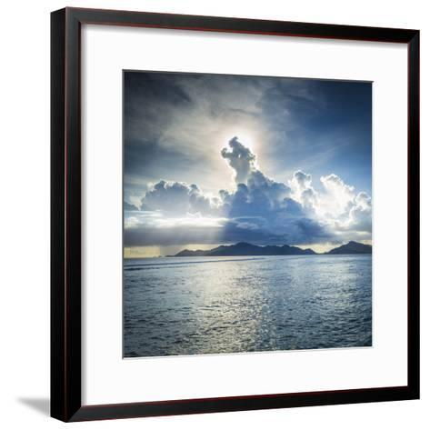 Praslin Island from Anse Source D'Argent Beach, La Digue, Seychelles-Jon Arnold-Framed Art Print