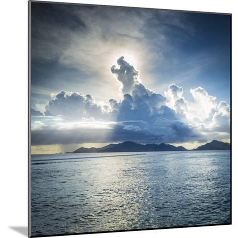 Praslin Island from Anse Source D'Argent Beach, La Digue, Seychelles-Jon Arnold-Mounted Photographic Print