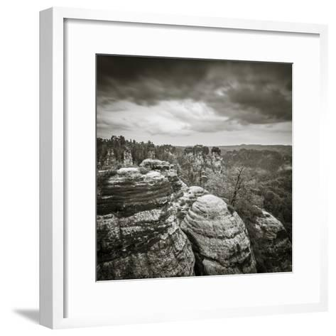 Bastei, Saxon Switzerland National Park, Saxony, Germany-Jon Arnold-Framed Art Print