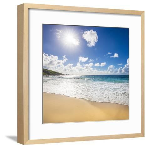 Grand Anse Beach, La Digue, Seychelles-Jon Arnold-Framed Art Print
