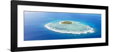 Aerial View of Tavarua, Heart Shaped Island, Mamanucas Islands, Fiji-Matteo Colombo-Framed Art Print