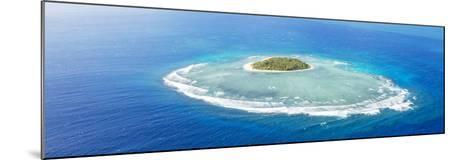 Aerial View of Tavarua, Heart Shaped Island, Mamanucas Islands, Fiji-Matteo Colombo-Mounted Photographic Print