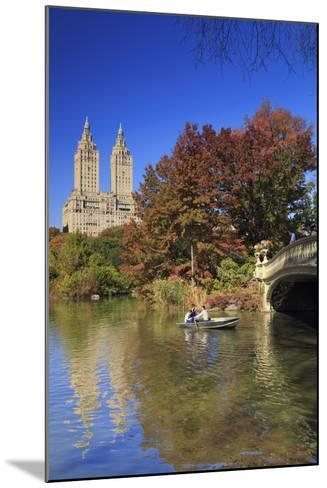 Usa, New York City, Manhattan, Central Park, Bow Bridge-Michele Falzone-Mounted Photographic Print
