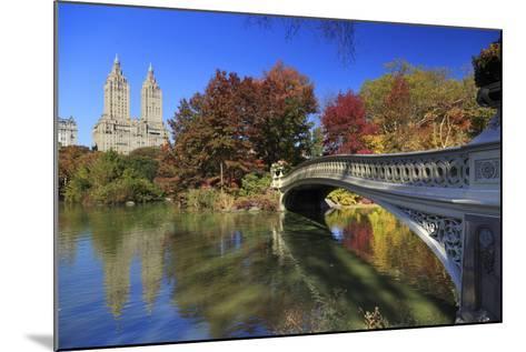 Usa, New York City, Manhattan, Central Park, Bow Bridge-Michele Falzone-Mounted Photographic Print
