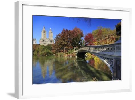 Usa, New York City, Manhattan, Central Park, Bow Bridge-Michele Falzone-Framed Art Print