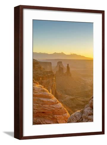 Usa, Utah, Canyonlands National Park, Island in the Sky District, View from Mesa Arch, Sunrise-Alan Copson-Framed Art Print