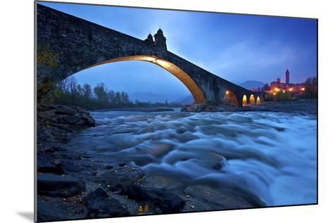 Hunchbacked Devil Bridge in Bobbio, Trebbia Valley, Piacenza, Emilia Romagna, Italy-ClickAlps-Mounted Photographic Print