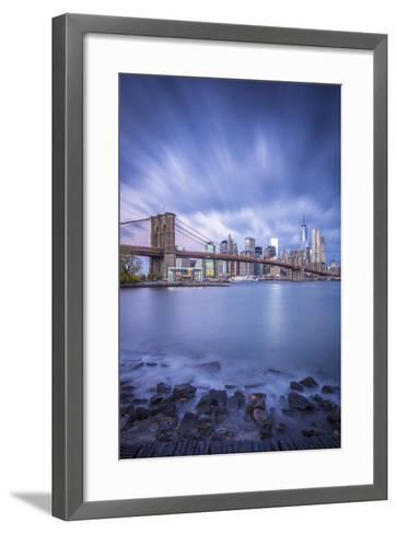 Brooklyn Bridge and Lower Manhattan/Downtown, New York City, New York, USA-Jon Arnold-Framed Art Print