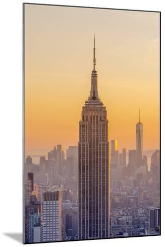 Usa, New York, Midtown and Lower Manhattan, Empire State Building and Freedom Tower-Alan Copson-Mounted Photographic Print