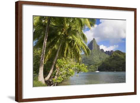 Opunohu Bay, Mo'Orea, Society Islands, French Polynesia-Ian Trower-Framed Art Print