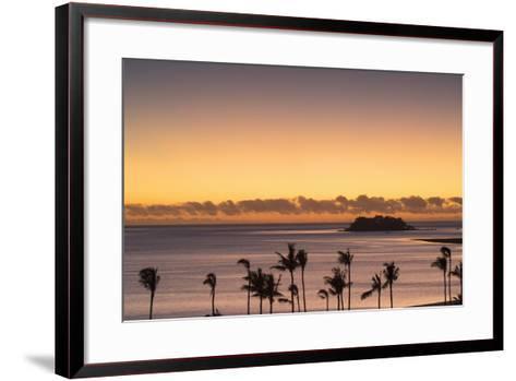 View of Wadigi Island at Sunset, Mamanuca Islands, Fiji-Ian Trower-Framed Art Print