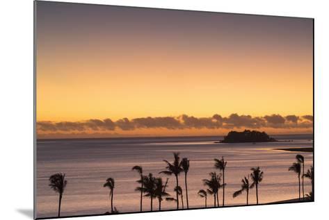 View of Wadigi Island at Sunset, Mamanuca Islands, Fiji-Ian Trower-Mounted Photographic Print