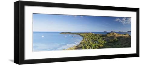 View of Mana Island, Mamanuca Islands, Fiji-Ian Trower-Framed Art Print