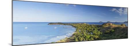 View of Mana Island, Mamanuca Islands, Fiji-Ian Trower-Mounted Photographic Print