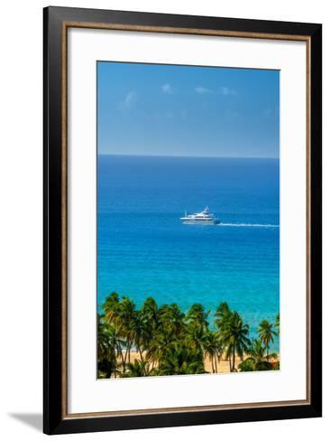 Caribbean, British Virgin Islands, Tortola, Lambert Bay, Lambert Bay Beach-Alan Copson-Framed Art Print