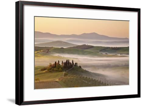 Belvedere Farm at Sunsise, Orcia Valley,Tuscany,Italy.-ClickAlps-Framed Art Print