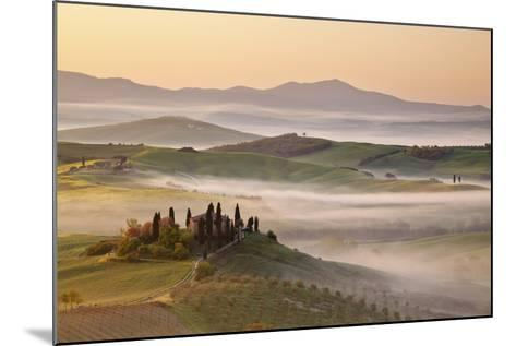 Belvedere Farm at Sunsise, Orcia Valley,Tuscany,Italy.-ClickAlps-Mounted Photographic Print