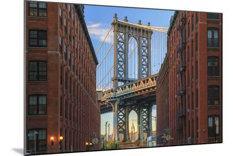 Usa, New York, Brooklyn, Dumbo, Manhattan Bridge and Empire State Building-Michele Falzone-Mounted Photographic Print
